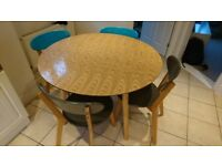 Made kitchen table and chairs. Good condition