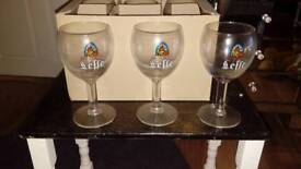 6 brand new leffe beer wine glassers