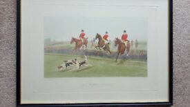 Four Hunting Prints by E.A.S. Douglas.