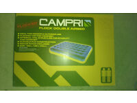 inflatable double airbed + pump NEW