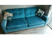 3/4 seater sofa and chair for sale