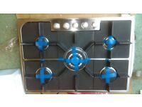 HOOVER HGH75SQDX Gas Hob - Stainless Steel Ex display