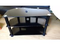 glass tv stand for tv's up to 37 inches