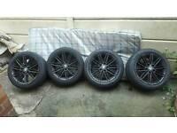"BMW 17"" BLACK M SPORT ALLOY WHEELS 5x120 1 2 3 4 5 SERIES"