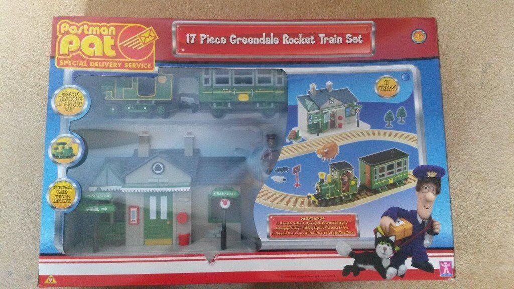 Toy Postman Pat Greendale Rocket Train Set In
