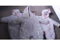 Baby girl winter coats/ cosy toes.