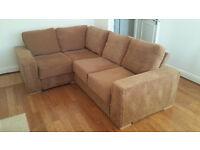Large brown Sofa, right corner