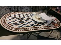 Mosaic handmade tables made in Morocco Marakesh