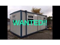 Portacabin double room office temporary unit. Port-a-cabin