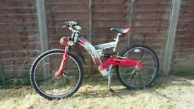 Full suspension men's mountain bike