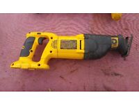 Dewalt Power tools Clearout 18v reciprocating saw