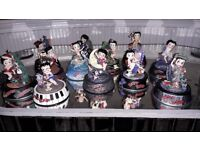 Betty boop dome collectables 1990s. Hand painted excellent condition selling 12 as a set.