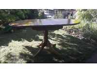 Pine drop leaf kitchen dining table