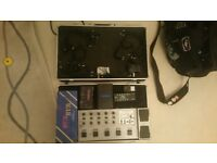 Effect pedal board and Flight case (Kinsman) comfortably house 10 standard guitar effects fx pedals