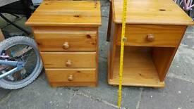 2 x oak bedroom cabinet