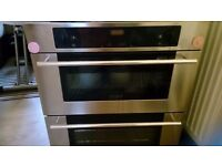 Gas cooker with double electric oven