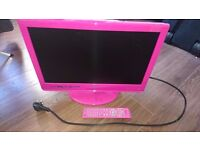 22Inch Hot Pink TV-DVD Combo (with remote)