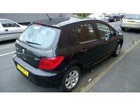 Black Peugeot 307 - Well maintained and really clean - Crazy Cheap to go asap!