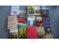 Bag full of history books historic