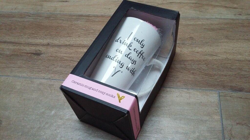 NEW Gift Mug and Socks set