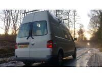 VW Volkswagen Transporter T35 High Top 3 Travelling seats*FSH* Stealth Campervan Solar power+Heater