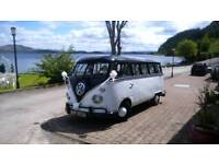 vw campervan splitscreen hire weddings ,proms