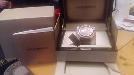 stunning mens armani watch new in jewlery box presentation box model AR1535