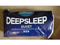 2 single duvets and pillows - Silentnight Deep Sleep - non allergenic - brand new
