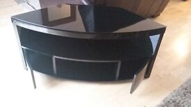 Black TV stand (tempered glass top)