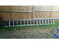 Aluminium extension ladder used but still in great working with