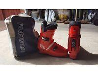 Salomon Ski Boots and Travel Bag