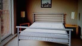 Double bed with mattress