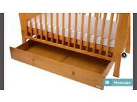 BNIB cotbed, under drawer storage and mattress