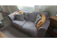 Grey Corduroy 2-3 seater sofa for sale