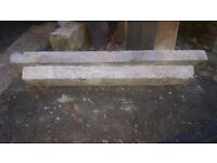 "(4x6"") 57"" and 47"" concrete lintels for doorways windows etc."