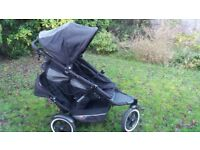 Phil and Ted black double buggy. 3 wheeled, very lighy and easy to maneouvre.