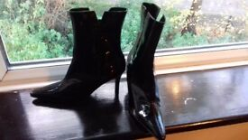 Black patent ankle Boots Size 4
