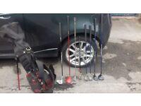 Junior golf set, bag and stand