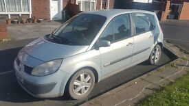 Renault Scenic 04 plate. No papers. Only V5. Battery needed. SOLD AS SEEN. 1 Key.