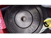 York Olympic Weights Bumper Plates 20kg x 2