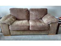 Brown cloth sofa, very comfy