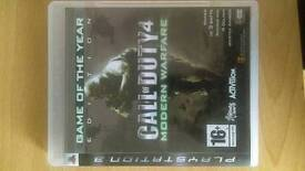 PlayStation 3 call of duty 4 modern warfare cod