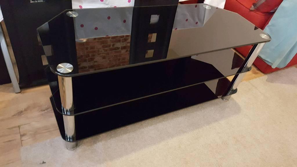Tv glass standin Pontypridd, Rhondda Cynon TafGumtree - Tv glass stand black