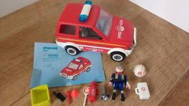 Playmobil Fire Chief Car Set 4822