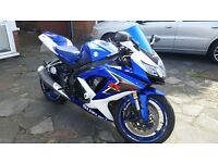 2008 suzuki gsxr 600 k8 blue 10,000 miles full suzuki service history 2 owners from new