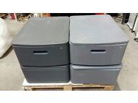 Cabinet single drawer lockable swivel top
