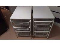 Ikea mesh baskets with free standing frames ALGOT - 2 frames 7 baskets