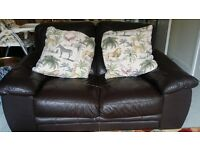 Much Loved Leather Sofa *URGENT MUST GO*