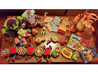 Large bundle of preschool baby toddler toys.In the Night Garden Winnie the Pooh
