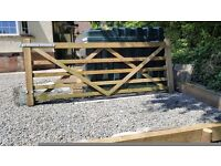 Wooden Farm Gate 3 Meters